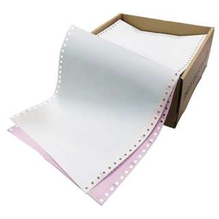 "Computer Form 9.5"" x 11"" 2 Ply NCR 500 Fans - White/Pink"