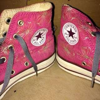 Converse (pink high cut)