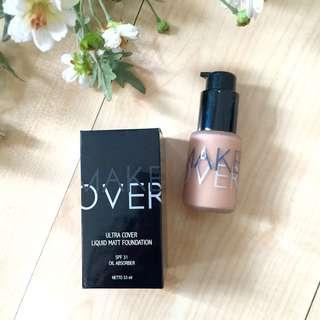 Make Over Ultra Cover Liquid Matt Foundation (03 Nude Silk)