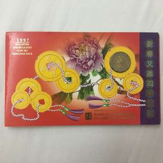 1997 Singapore Uncirculated Coin Set Hongbao Pack