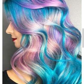 Hair Color(Pastel and gray hair)