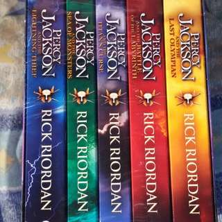 Percy Jackson sealed books 1-5
