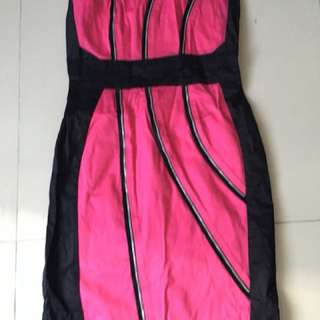 Pink and black pink manila dress