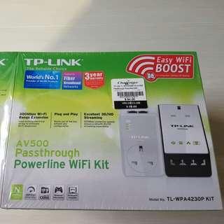 TP Link AV500 Passthrough Powerline Wifi Kit Home Plug