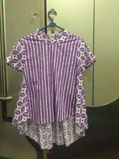 Batik top purple