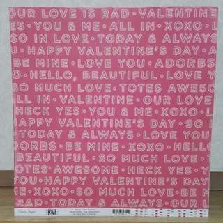 Crate Paper 'Hello, Love: Two Hearts' Scrapbooking Paper