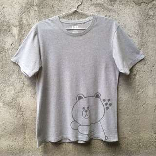 Kaos Tshirt Uniqlo X Line Friends