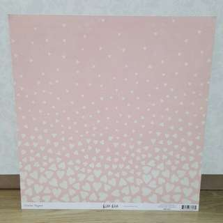 Crate Paper 'Kiss Kiss: Falling for You' Scrapbooking Paper