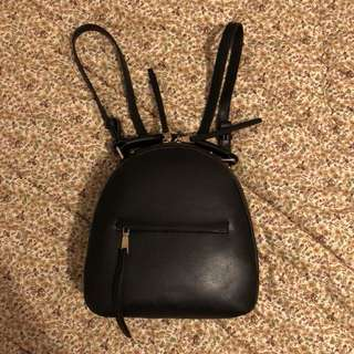 ZARA medium black backpack