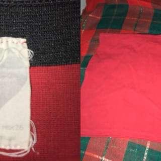 Zara Red Mini Skirt