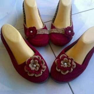 Sepatu Rajut Tangan Asli
