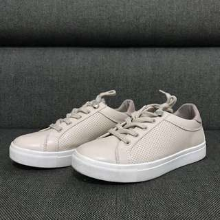 Perforated Nude Sneakers