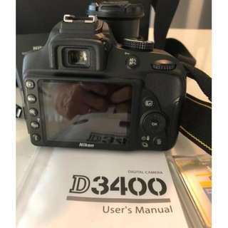 Nikon D3400 DSLR Camera + 18-55mm Lens