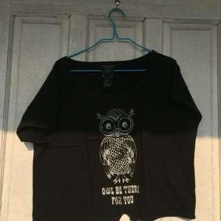 Crop tee owl