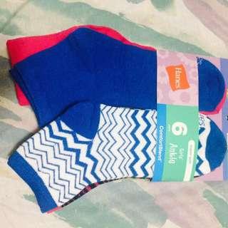 6pairs Hanes Socks
