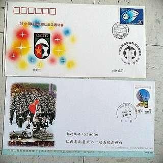95 中國人民解放軍 明星足球隊 郵票 stamp