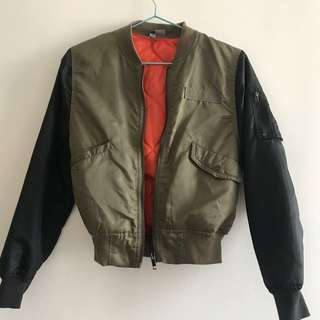 Women Patch Sleeve Military Jacket