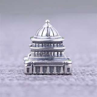 Code S188 - Temple 100 % 925 Sterling Silver Charm compatible with Pandora