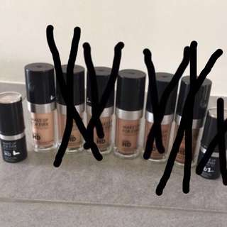 Preowned Makeup Forever Ultra HD invisible cover foundation and invisible cover stick foundation