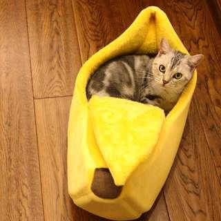 限量香蕉萌主貓貓寵愛睡窩