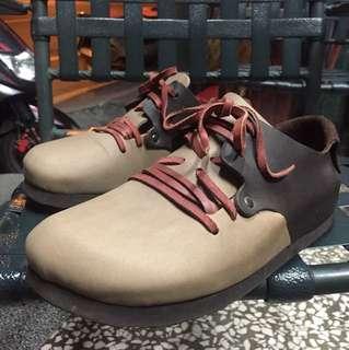 優質二手 似伯肯皮革休閒鞋 尺寸:27公分 9成新
