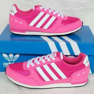 Adidas neo city racer shocking pink white