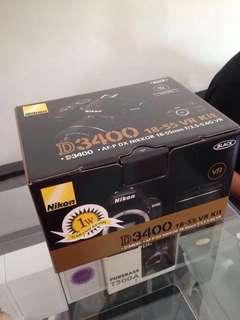 Nikon D3400 + Lensa Kit (nego halus)