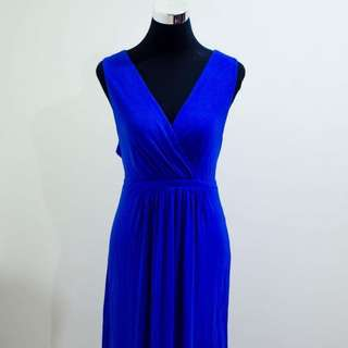 Large-Extra Large Long Blue Gown