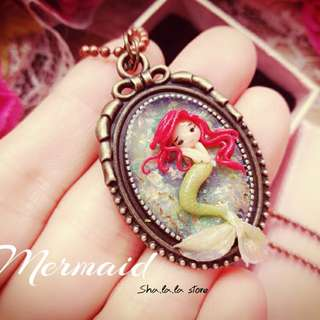 🌸Handmade Mermaid Pendant Necklace