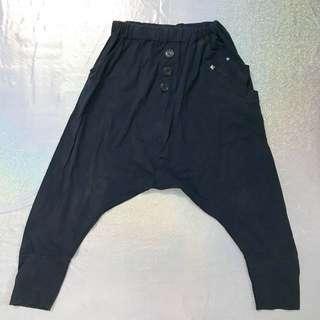 Dark Blue Drop Crotch Pants