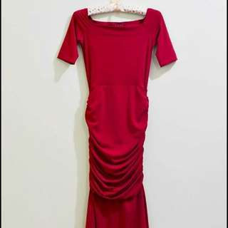 Petite Red Gown for rent