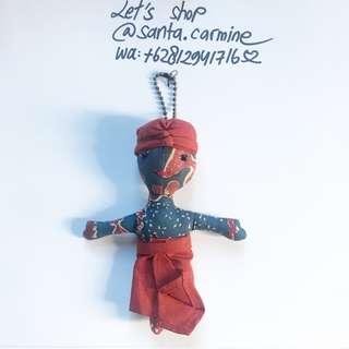 bros gantungan tas boneka batik keychain broach