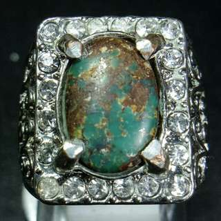 Cincin Batu Akik Pirus Persia
