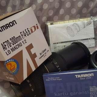 Lensa Tamron AF70/300 for Canon Complete