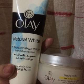 Olay Facial Cleanser & Olay Day cream