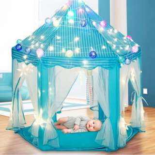BN Kids Palace Indoor Outdoor Prince Princess Blue Play Tent