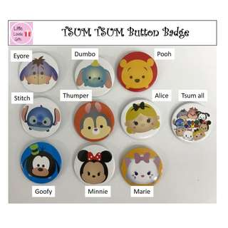 Tsum Tsum Button Badge