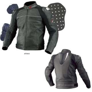 Komine Titanium Leather Jacket Levata JK-533  Size:  EU - M / JP  - L