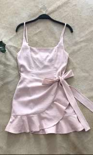 Baby Pink Wrap Dress