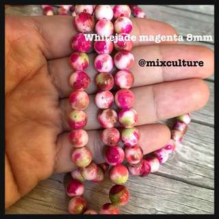 Whitejade 8mm magenta