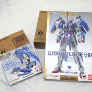 全新日版魂限定Metal build Gundam Avalanche Exia 雪崩普版+ Option Parts Set 腳甲