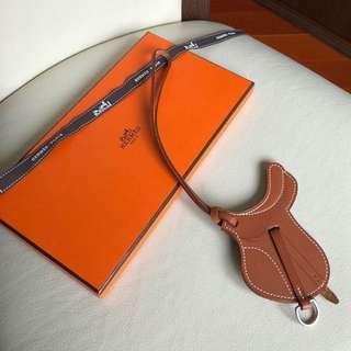 Hermes bag charm horse paddock saddle