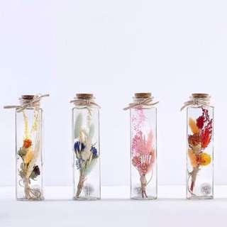 乾花許願瓶 永生花玻璃瓶 花藝 發光 生日禮物