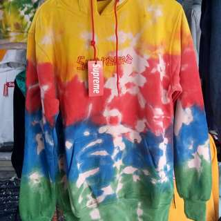 jaket sweater pria supreme tie dye random