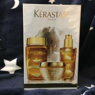 Kérastase Elixir Ultime Set (Shampoo 250ml + Oil 100ml + Treatment 200ml) 極緻全效修護系列