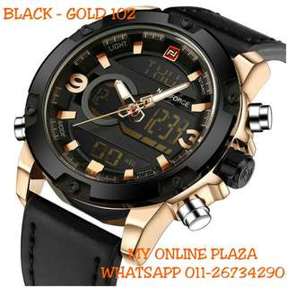 NAVIFORCE MILITARY WATCH - BLACK GOLD