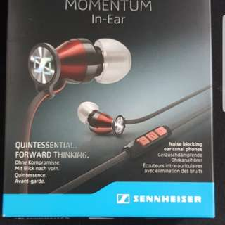 Sennheiser momentum in ear earphones