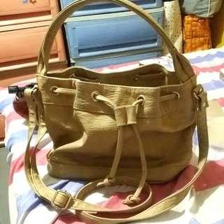 Parisian Beidge Bucket Bag