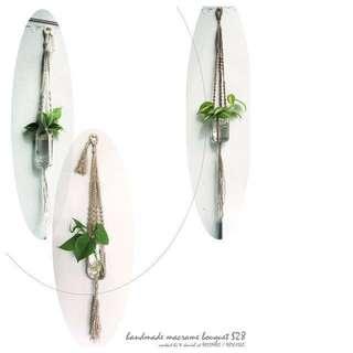 macrame bouquet hanger - handmade