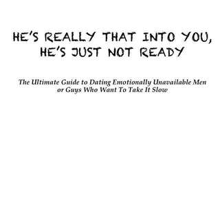 Relationship ebook: He's Really That Into You, He's Just Not Ready